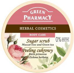 Green Pharmacy  Peeling cukrowy  Róża piżmowa, Zielona Herbata  300ml - 811152