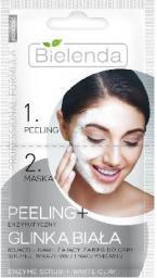 Bielenda Professional Formula Maseczka 2-fazowa Peeling enzymatyczny + Glinka biała  2 x 5g