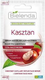 Bielenda Kasztan Serum uszczelniające naczynka + maseczka łagodząca  2x5g