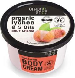Organic Shop Krem do ciała - cera sucha i wrażliwa Różowy Lychee 250ml