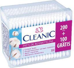 Cleanic Patyczki higieniczne Pudełko kwadratowe 200 + 100 szt
