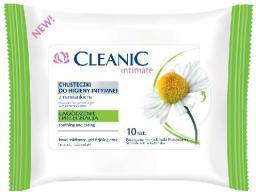 Cleanic Intimate Chusteczki do higieny intymnej łagodzące z rumiankiem