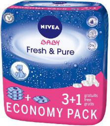 Nivea Baby Chusteczki Pure & Fresh 3+1    (4 x 63 szt)