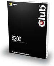 Karta graficzna Club 3D GeForce 6200 256MB 6200 256MB DDR2 VGA+DVI+TV