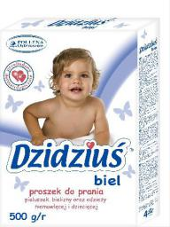Dzidziuś  Proszek do prania pieluszek, bielizny, odzieży niemowlęcej Biel 500g