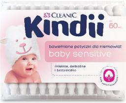 Cleanic Kindii Baby Sensitive Patyczki do uszu 60 szt.