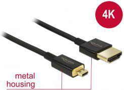 Kabel Delock HDMI Micro HDMI, 2, Czarny (84783)