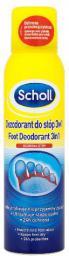 Scholl Pielęgnacja stóp Dezodorant ochronny do stóp 3w1 150ml