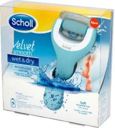 Scholl   Velvet Smooth Elektryczny pilnik do stóp Wet&Dry z ładowarką  1szt - 646555