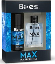 Bi-es Max Ice Freshness for men Zestaw prezentowy (dezodorant spray 150ml+woda toaletowa 100ml)