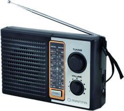 Radio Manta RDI103 czarno-srebrny