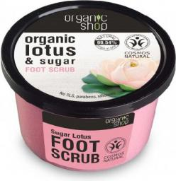 Organic Shop Scrub do stóp Cukier i Kwiat Lotosu BDIH 250 ml