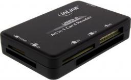 Czytnik InLine Zewnętrzny, USB 3.0, Czarny (76631C)