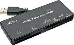 Czytnik InLine Zewnętrzny USB 3.0, Czarny (76631A)