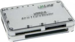 Czytnik InLine Zewnętrzny USB 3.0, Srebrny (76631I)