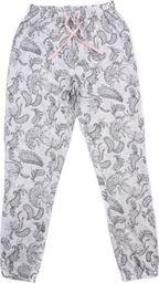 Pepco Damskie, szare, długie spodnie od piżamy z roślinnym wzorem L