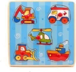 Brimarex Puzzle drewniane Pojazdy 6824A - 1564788