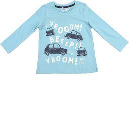 Pepco Chłopięcy, niebieski t-shirt z samochodzikami 12/18