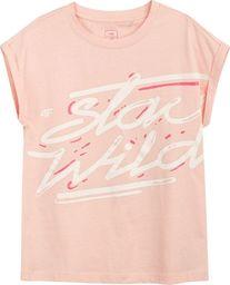 4f Koszulka dla dziewczynki 4F łososiowa HJL21 JTSD009A 64S 128cm