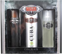 Cuba Black Zestaw dla mężczyzn   EDT  100ml + 100ml Woda po goleniu + 200ml deodorant