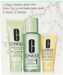 Clinique 3step Skin Care System 1 Zestaw kosmetyków 50ml Liquid Facial Soap Extra Mild + 100ml Clarifying Lotion 1 + 30ml DDML