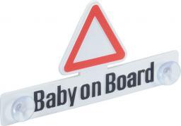 """Herbert Richter Zawieszka samochodowa z przyssawką """"Baby on Board"""" 80 x 160 x 11 mm (12410001)"""