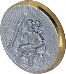 Herbert Richter Samoprzylepna odznaka Św. Krzysztofa,  Ø 38 x 8 mm, srebrno/złota (10210301)
