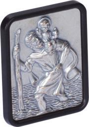 Herbert Richter Samoprzylepna odznaka Św. Krzysztofa, 6 x 42 x 35 mm, czarno/srebrna (10210401)