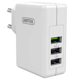 Ładowarka Unitek Ładowarka Unitek 3x USB 2.4A + Quick Charge 2.0 FAST (Y-P537A)