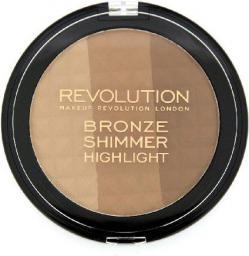 Makeup Revolution Ultra Bronze Shimmer & Highlight Puder brązujący i rozświetlający 15g