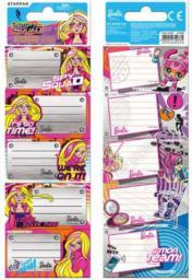 Starpak Naklejki na zeszyt Barbie (352940)