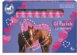 Starpak Pastele olejowe 12 kolorów HORSES - (276603)
