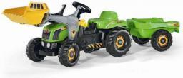 Rolly Toys Traktor Rolly zielony z łyżką i przyczepą 023134 (5023134)