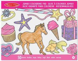 Jumbo Colouring Pad - Pink (14225)