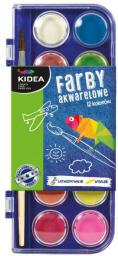 Derform Farby akwarelowe 12 kolorów KIDEA - (DERF.FA12KKA)