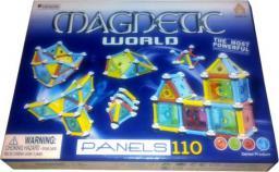 LEANToys Klocki Magnetyczne Magnetic World 110 Panele
