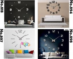 LEANToys Duży nowoczesny zegar na ścianę 4 wzory naklejany (1818911317969)