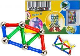 LEANToys Zestaw klocków magnetycznych 136 el. Magnastix