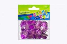 Craft with Fun Ozdoba dekoracyjna fioletowe śnieżki konfetti