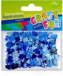Craft with Fun Ozdoba dekoracyjna metaliczny miś cekiny niebieski