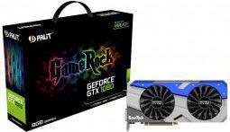Karta graficzna Palit GeForce GTX 1080 GameRock 8GB GDDR5X (256 bit) HDMI, DVI-D, 3x DP, BOX (NEB1080T15P2G)
