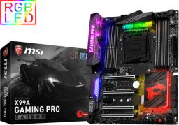 Płyta główna MSI X99A Gaming Pro Carbon, X99, DDR4, SATA3, SATAe, USB 3.1, ATX (7A20-003R)