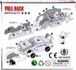 Moneks Samochód do złożenia autko model 3D napęd pullback