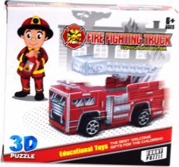 Moneks Straż pożarna model do złożenia 3D napęd pull back