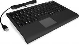 RaidSonic Mini Klawiatura, smart touchpad, czarna (ACK-540U+)
