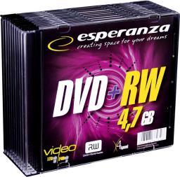 Esperanza DVD+RW/10/Slim 4.7GB 4x