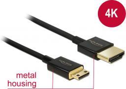 Kabel Delock HDMI Mini HDMI, 2, Czarny (84778)