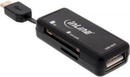 Czytnik InLine OTG Czytnik kart Dual Flex do SD i microSD z USB i 2 slotami (66776)
