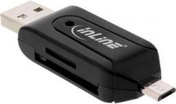 Czytnik InLine OTG Dual Czytnik kart na SD i microSD (66779)