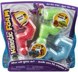 Spin Master Kinetic Foam - Multi 3-pak czerwony, zielony, niebieski (5909979)